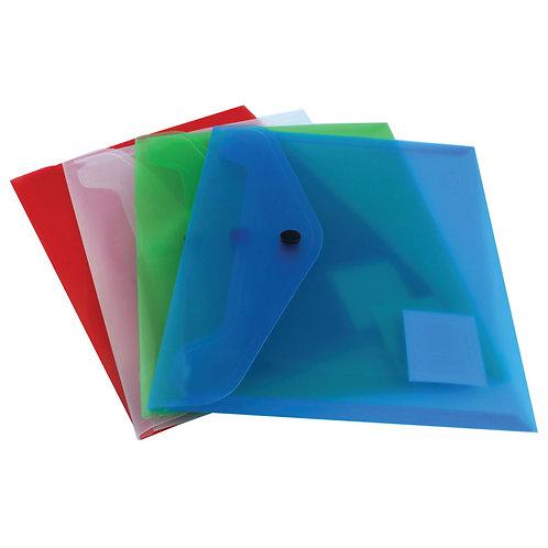Q-Connect Polypropylene Document Folder A5 Assorted (Pack of 12)
