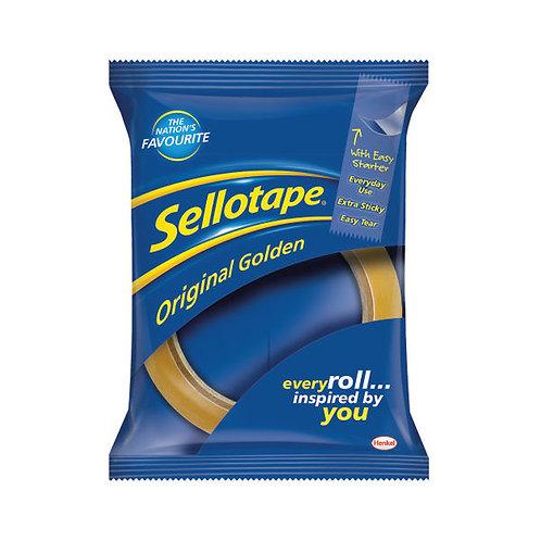 Sellotape Original Golden Tape 24mmx66m