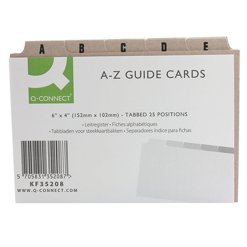 Guide Card 152x102mm A-Z Buff (Pack of 25)