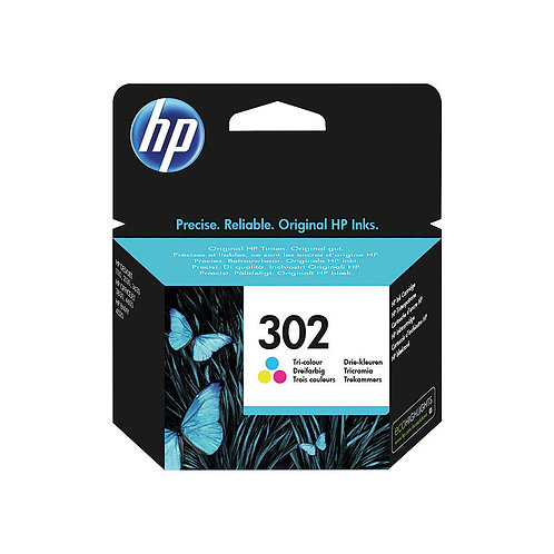 HP 302 Cyan/Magenta/Yellow Ink Cartridge