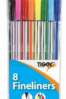 Fineliner - Pack 8 Bright Colours