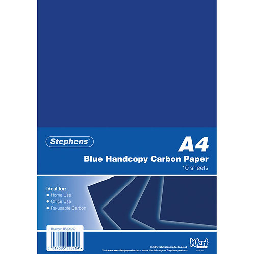 Stephens Blue A4 Hand Carbon Paper