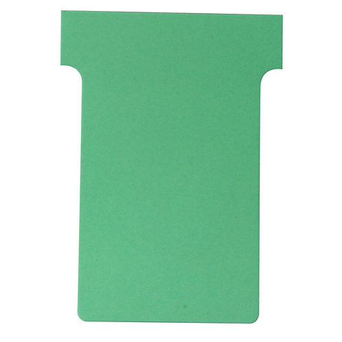 Nobo T-Card Size 3 80 x 120mm Light Green (Pack of 100)