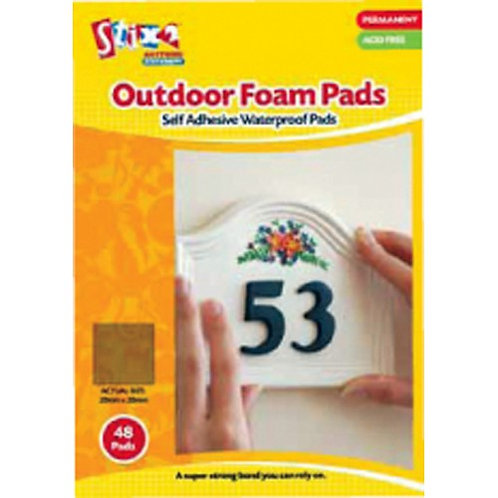 Permanent Outdoor Foam Pads Single Pack of 48 Pads 20mm x 20mm