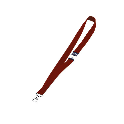 Durable Textile Badge lanyard 20mm Red (Pack of 10)
