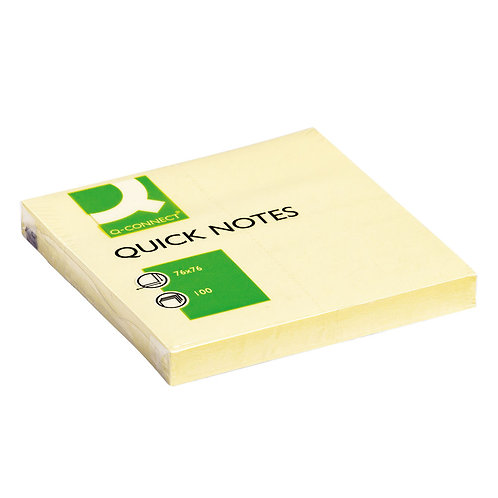 Quick Notes 76 x 76mm Yellow