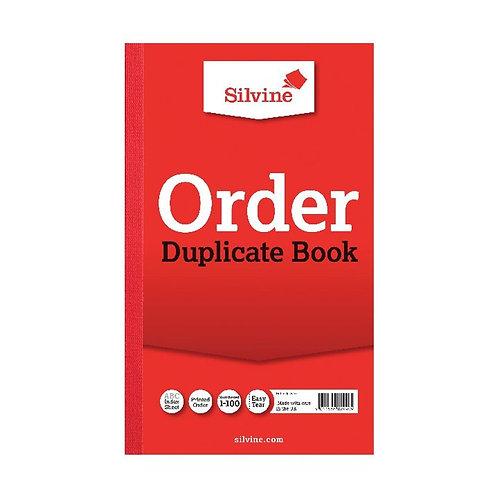 Silvine Duplicate Order Book 210x127mm