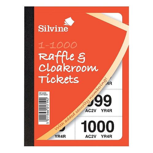 Cloakroom and Raffle Tickets 1-1000