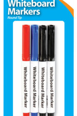 Slim Whiteboard Markers Pk 4