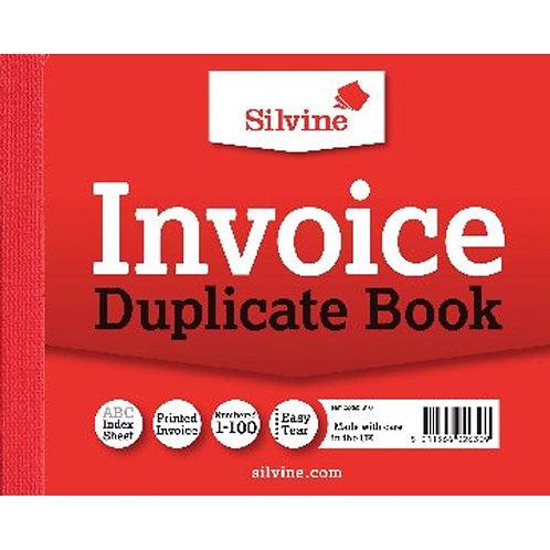 Silvine Duplicate Invoice Book 102x127mm
