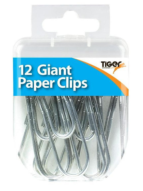 12 Giant Paper Clips