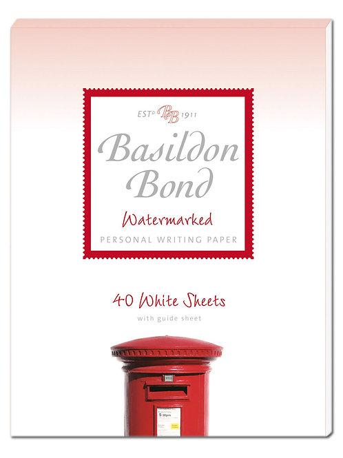 Basildon Bond Duke White Writing Paper 40 Sheets