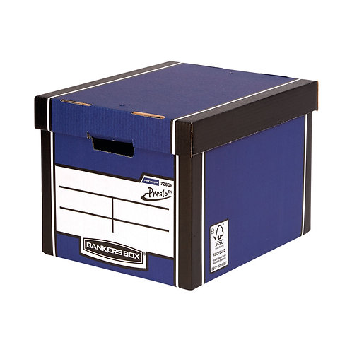 Bankers Box Premium Tall Box Blue (Pack of 5)