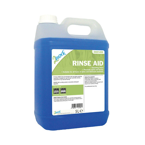 2Work Concentrated Rinse Aid Additive 5 Litre Bulk Bottle