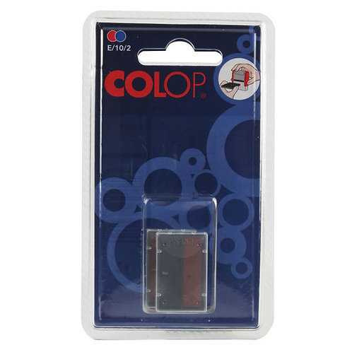 COLOP E/10/2 Replacement Ink Pad Blue/Red (Pack of 2)