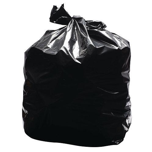 2Work Light Duty Refuse Sack Black (Pack of 200)