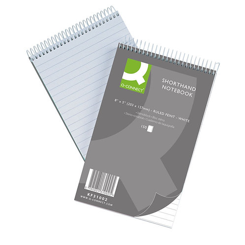 Q-Connect Feint Ruled Shorthand Notebook 300 Pages 203x127mm