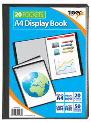A4 20pkt Pres. Display Book Black