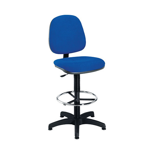 Jemini Medium Back Draughtsman Chair Blue