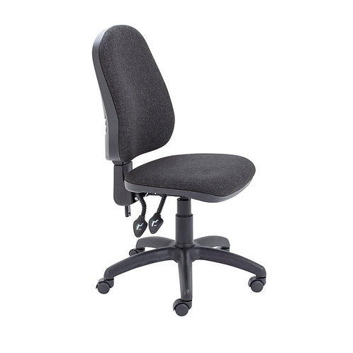 First High Back Operators Chair Charcoal