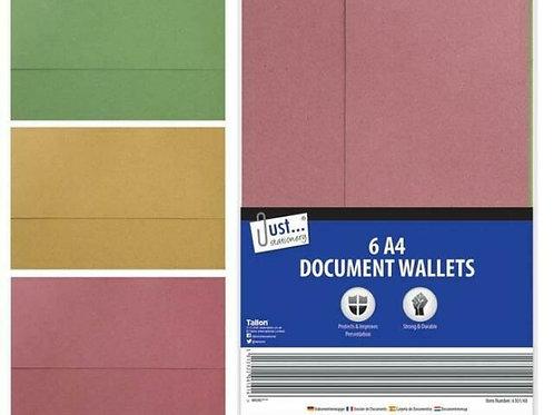 6 A4 Document Wallets - Tallon
