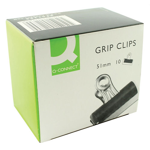 Grip Clip (Bulldog Clip) 51mm Black (Pack of 10)