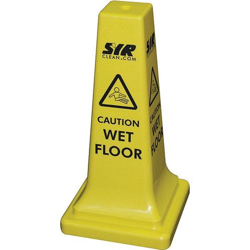 SYR Caution Wet Floor Hazard Warning Cone 21 Inches