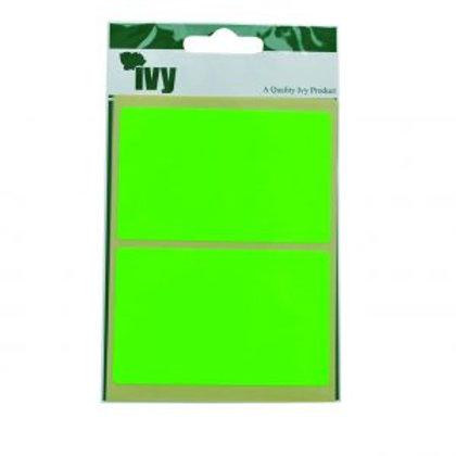 Green Fluorescent Rectangle  50 x 80mm
