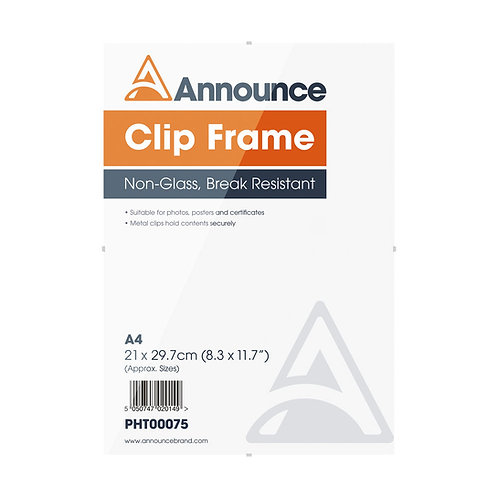 Announce Metal Clip Frame A4