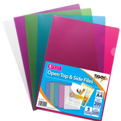 A4 Pk 5 Open Top & Side Assorted