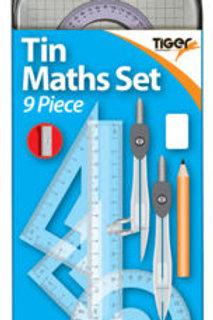 9 Piece Tin Maths Set