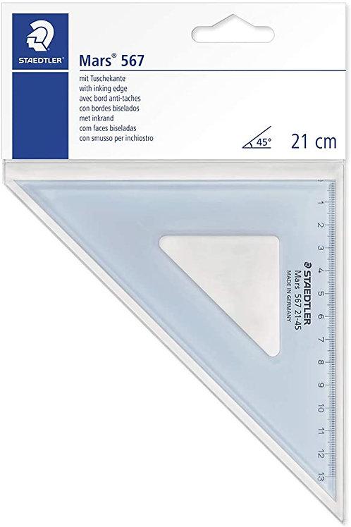 Staedtler Mars 567 21-45 Set Square 45/45 Degree, 20 cm - Blue