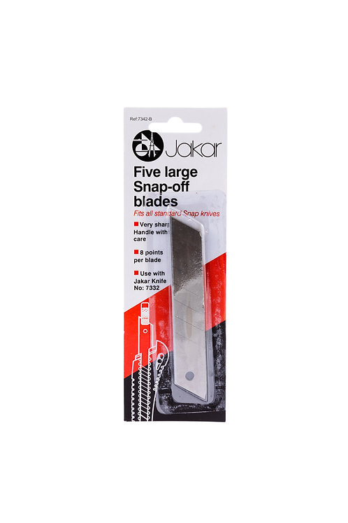 Five Large Snap-off Blades