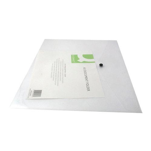 Q-Connect Polypropylene Document Folder A3 Clear