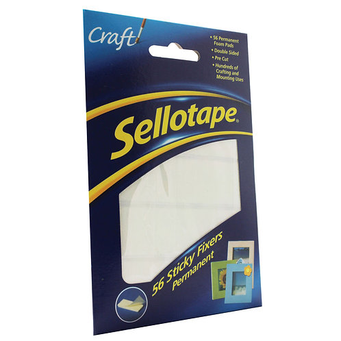 Sellotape Sticky Fixers Permanent 12x25mm (Pack of 56)