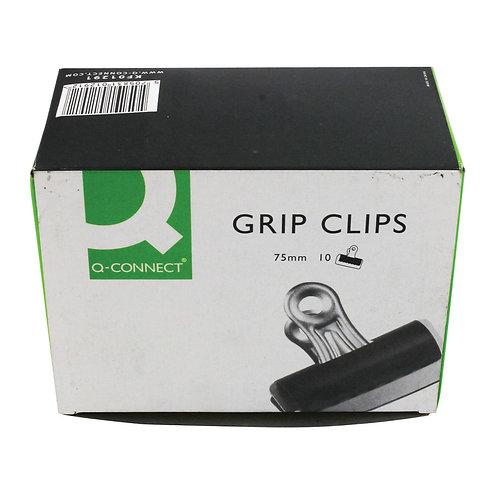 Grip Clip (Bulldog Clip) 75mm Black (Pack of 10)