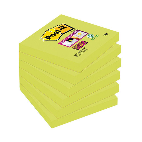 Post-it Super Sticky 76 x 76mm Asparagus (Pack of 6)