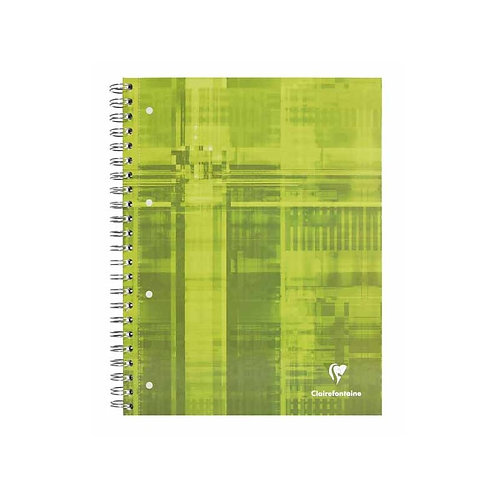 CLAIREFONTAINE SPIRAL NOTEBOOK A4 160P Q5 PERFORATED - Engineering Book