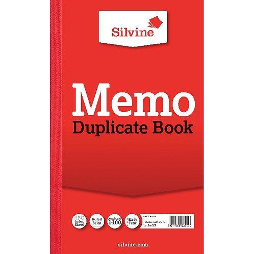 Silvine Duplicate Memo Book 210x127mm