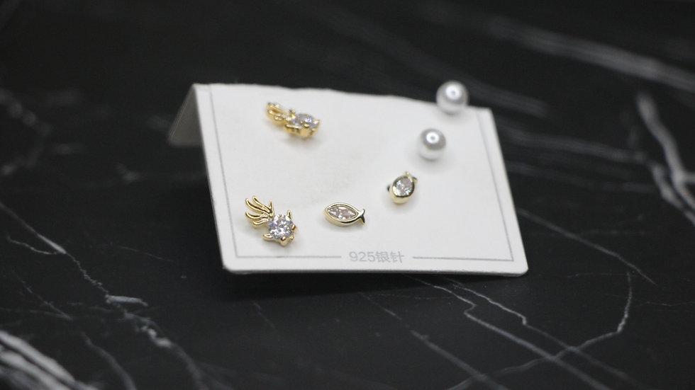 Sea set earrings