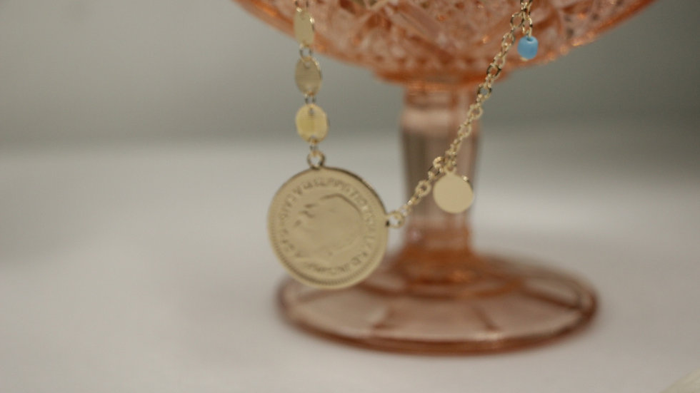 Blue pearl coin II