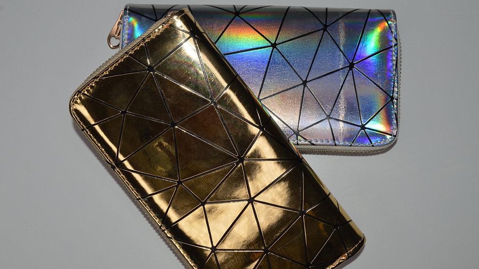Golden cracked wallet