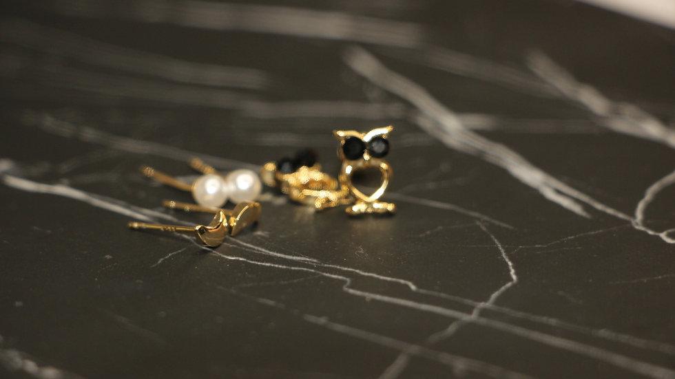 Owl set earrings