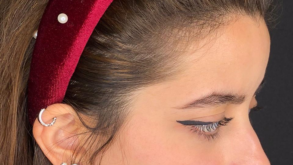 Maroon headband