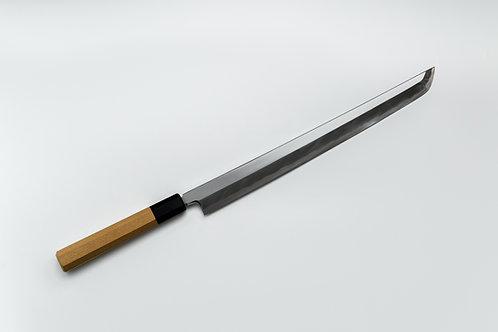 Couteau Sakimaru Takohiki 33cm acier Bleu1