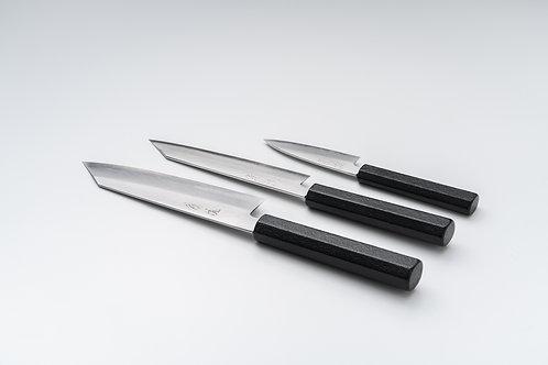 Set Couteaux Ginsan laqué Makiji