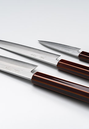 Set Couteaux Ginsan laqué Kijiro