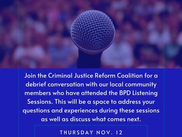 Kern Community Debrief: BPD Listening Sessions