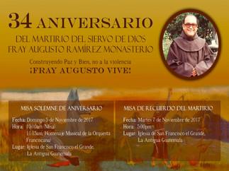 34 Aniversario del Martirio del Siervo de Dios Fr. Augusto Ramírez Monasterio