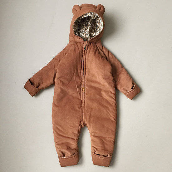 Teddy Suit en Coton Bio-Cognac